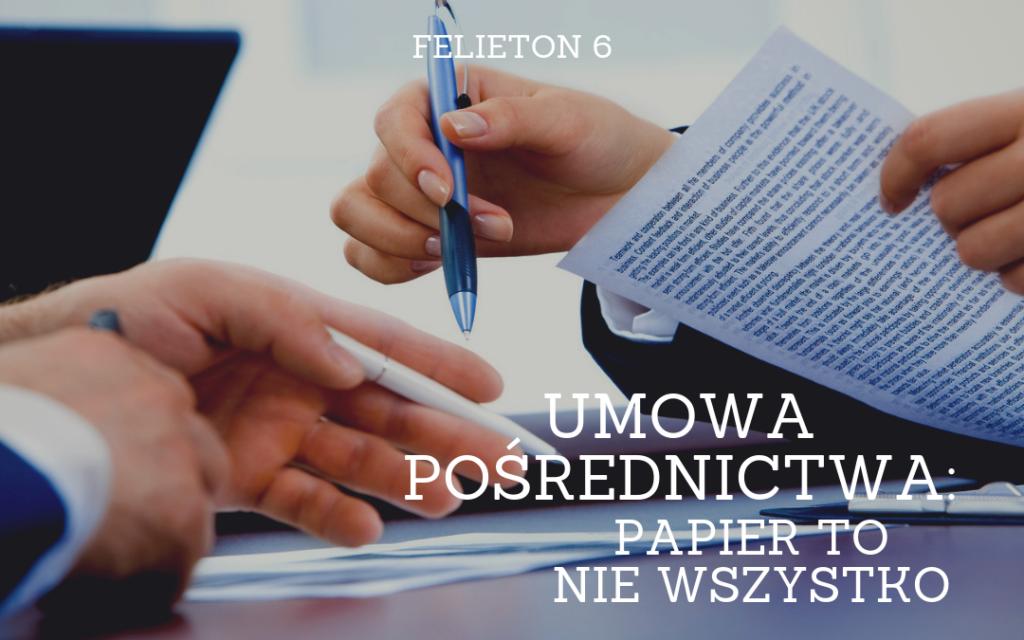 6. WP Umowa pośrednictwa